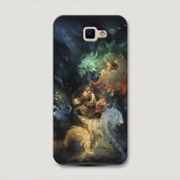 Пластиковый чехол Warcraft Панда на Samsung Galaxy J5 Prime 2016