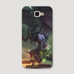 Пластиковый чехол Warcraft Иллидан 3 на Samsung Galaxy J5 Prime 2016