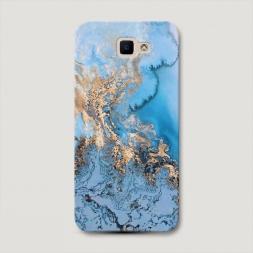 Пластиковый чехол Морозная лавина синяя на Samsung Galaxy J5 Prime 2016