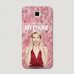 Пластиковый чехол Get off my phone на Samsung Galaxy J5 Prime 2016