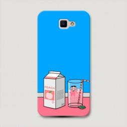 Пластиковый чехол Персиковый сок на Samsung Galaxy J5 Prime 2016