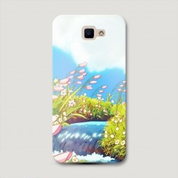 Пластиковый чехол Пейзаж Ходячий Замок Хаула на Samsung Galaxy J5 Prime 2016