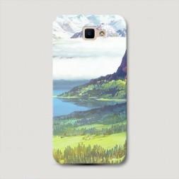 Пластиковый чехол Райская долина на Samsung Galaxy J5 Prime 2016
