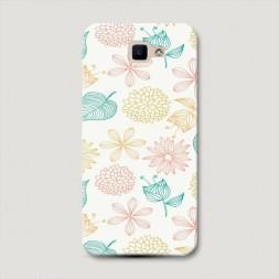 Пластиковый чехол Ажурные листья на Samsung Galaxy J5 Prime 2016