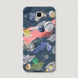 Пластиковый чехол Парад планет на Samsung Galaxy J5 Prime 2016