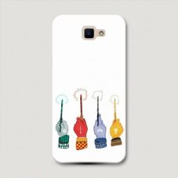 Пластиковый чехол Парад волшебных палочек на Samsung Galaxy J5 Prime 2016