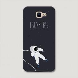 Пластиковый чехол Dream big открытый космос на Samsung Galaxy J5 Prime 2016