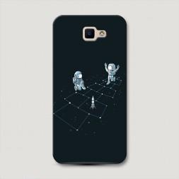 Пластиковый чехол Космические игры на Samsung Galaxy J5 Prime 2016