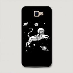 Пластиковый чехол Кот в космосе на Samsung Galaxy J5 Prime 2016