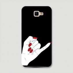 Пластиковый чехол Pinky promise черный на Samsung Galaxy J5 Prime 2016