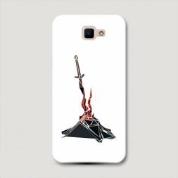 Пластиковый чехол Dark Souls меч в камне на Samsung Galaxy J5 Prime 2016