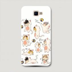 Пластиковый чехол Haikyuu чиби котики на Samsung Galaxy J5 Prime 2016
