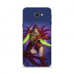 Cиликоновый чехол Warcraft Разбойница на Samsung Galaxy J5 Prime 2016
