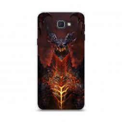 Cиликоновый чехол Warcraft Смертокрыл на Samsung Galaxy J5 Prime 2016
