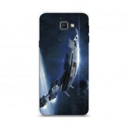 Cиликоновый чехол Mass Effect Нормандия на Samsung Galaxy J5 Prime 2016