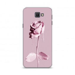 Cиликоновый чехол Роза в краске на Samsung Galaxy J5 Prime 2016