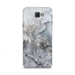 Cиликоновый чехол Морозная лавина серая на Samsung Galaxy J5 Prime 2016