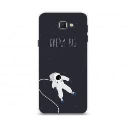 Cиликоновый чехол Dream big открытый космос на Samsung Galaxy J5 Prime 2016
