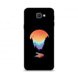 Cиликоновый чехол Радужный закат на Samsung Galaxy J5 Prime 2016