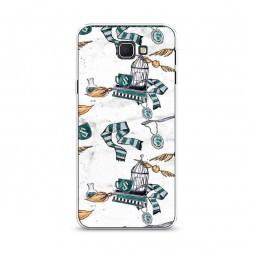 Cиликоновый чехол Хогвартс предметы Слизерина на Samsung Galaxy J5 Prime 2016