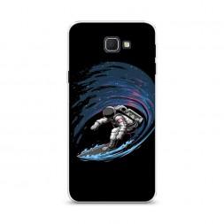 Cиликоновый чехол Космонавт на серфе на Samsung Galaxy J5 Prime 2016