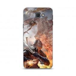 Cиликоновый чехол Ведьмак в бою на Samsung Galaxy J5 Prime 2016