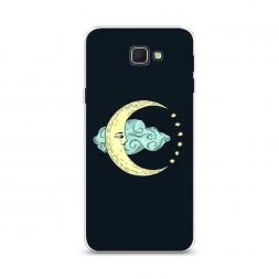 Cиликоновый чехол Античная луна на Samsung Galaxy J5 Prime 2016