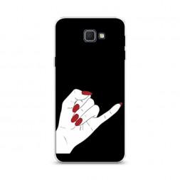 Cиликоновый чехол Pinky promise черный на Samsung Galaxy J5 Prime 2016