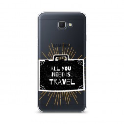 Cиликоновый чехол All you need is travel на Samsung Galaxy J5 Prime 2016