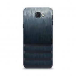 Cиликоновый чехол Лес арт 2 на Samsung Galaxy J5 Prime 2016
