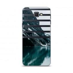 Cиликоновый чехол Горное озеро на Samsung Galaxy J5 Prime 2016