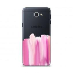 Cиликоновый чехол Розовые мазки краски на Samsung Galaxy J5 Prime 2016