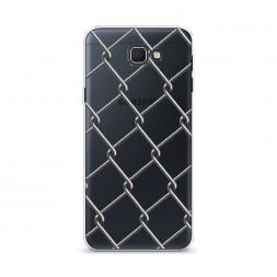 Cиликоновый чехол Сетка на Samsung Galaxy J5 Prime 2016