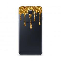 Cиликоновый чехол Золотые потеки на Samsung Galaxy J5 Prime 2016