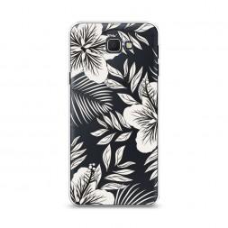 Cиликоновый чехол Тропические цветы графика на Samsung Galaxy J5 Prime 2016