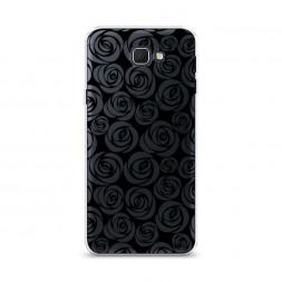 Cиликоновый чехол Розы графика черная на Samsung Galaxy J5 Prime 2016