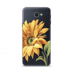 Cиликоновый чехол Желтая хризантема на Samsung Galaxy J5 Prime 2016