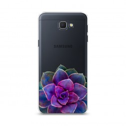 Cиликоновый чехол Каменная роза арт на Samsung Galaxy J5 Prime 2016