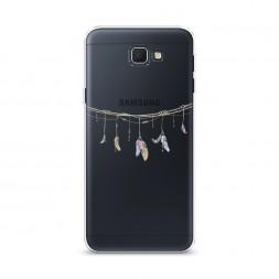 Cиликоновый чехол Перышки на веревке на Samsung Galaxy J5 Prime 2016