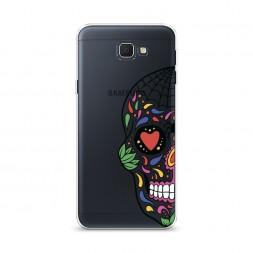 Cиликоновый чехол Череп из Мексики арт на Samsung Galaxy J5 Prime 2016