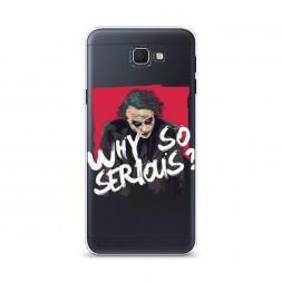 Cиликоновый чехол Джокер Why на Samsung Galaxy J5 Prime 2016