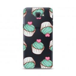 Cиликоновый чехол Сердечные кексы на Samsung Galaxy J5 Prime 2016