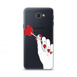 Cиликоновый чехол Сладкое сердце на Samsung Galaxy J5 Prime 2016