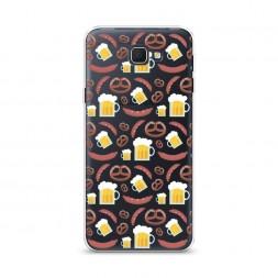 Cиликоновый чехол Пиво и крендели фон на Samsung Galaxy J5 Prime 2016