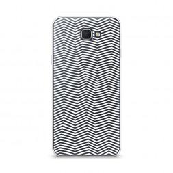 Cиликоновый чехол Зрительный обман белый на Samsung Galaxy J5 Prime 2016