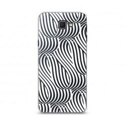 Cиликоновый чехол Округлая лента белая на Samsung Galaxy J5 Prime 2016