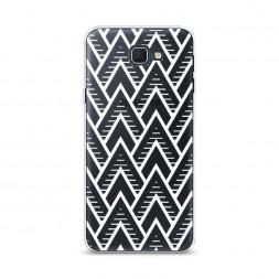 Cиликоновый чехол Угловая абстракция белая на Samsung Galaxy J5 Prime 2016