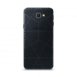 Cиликоновый чехол Составная разность черная на Samsung Galaxy J5 Prime 2016
