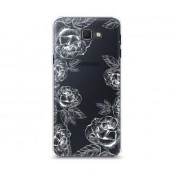 Cиликоновый чехол Розы графика на Samsung Galaxy J5 Prime 2016