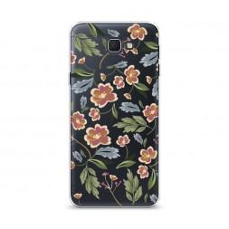 Cиликоновый чехол Художественные цветы на Samsung Galaxy J5 Prime 2016